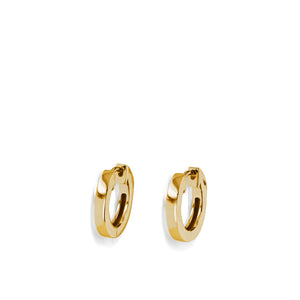 Essence Single Yellow Gold Hoop Earrings