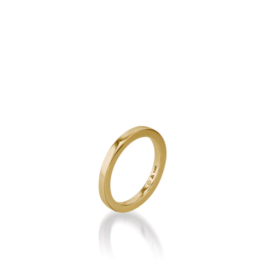 Essence Yellow Gold Stack Ring