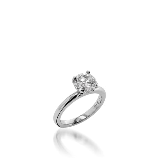 18-karat white gold Essence Solitaire 1.01 carat Round Diamond Engagement Ring