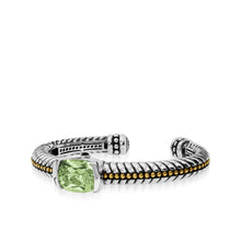 Load image into Gallery viewer, Entwine Prasiolite Gemstone Cuff Bracelet