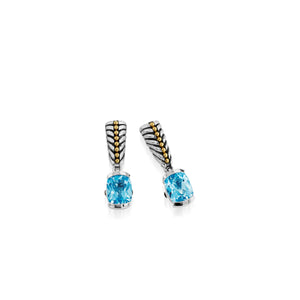 Entwine Blue Topaz Gemstone Dangle Earrings