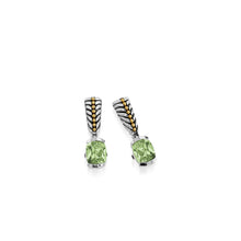 Load image into Gallery viewer, Entwine Prasiolite Gemstone Dangle Earrings