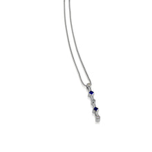 Load image into Gallery viewer, Paloma White Gold Blue Saphires Gemstone and Diamond Pendant