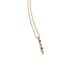 Load image into Gallery viewer, Paloma Yellow Gold Rubies Gemstone and Diamond Pendant