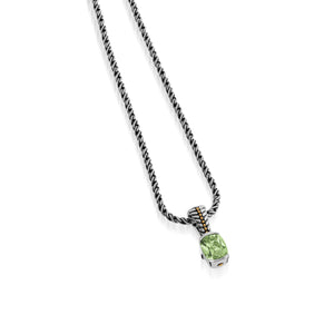 Entwine Prasiolite Gemstone Small Pendant Necklace