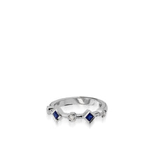 Load image into Gallery viewer, Paloma White Gold, Blue Sapphire Gemstone and Diamond Ring