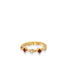 Load image into Gallery viewer, Paloma Yellow Gold, Ruby Gemstone and Diamond Ring
