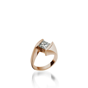 18 karat Rose Gold Decision Diamond Engagement Ring