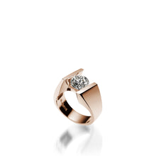 Load image into Gallery viewer, 18 karat Rose Gold Techla Diamond Engagement Ring
