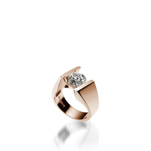 18 karat Rose Gold Techla Diamond Engagement Ring