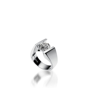 18 karat White Gold Techla Diamond Engagement Ring