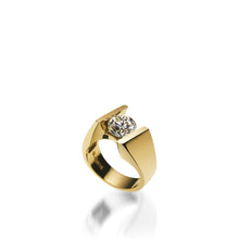 Load image into Gallery viewer, 18 karat Yellow Gold Techla Diamond Engagement Ring