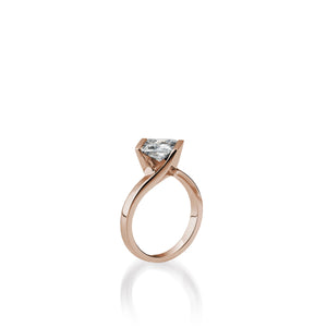 18 karat Rose Gold Intrinsic Diamond Engagement Ring
