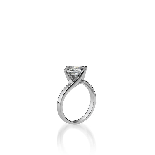18 karat White Gold Intrinsic Diamond Engagement Ring
