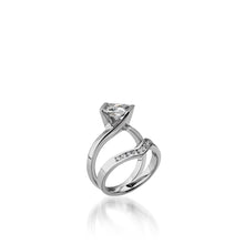 Load image into Gallery viewer, 18 karat White Gold Intrinsic Diamond Engagement Ring