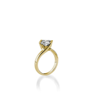 18 karat Yellow Gold Intrinsic Diamond Engagement Ring