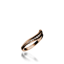 Load image into Gallery viewer, Apropos Rose Gold, Plus Diamond Wedding Band