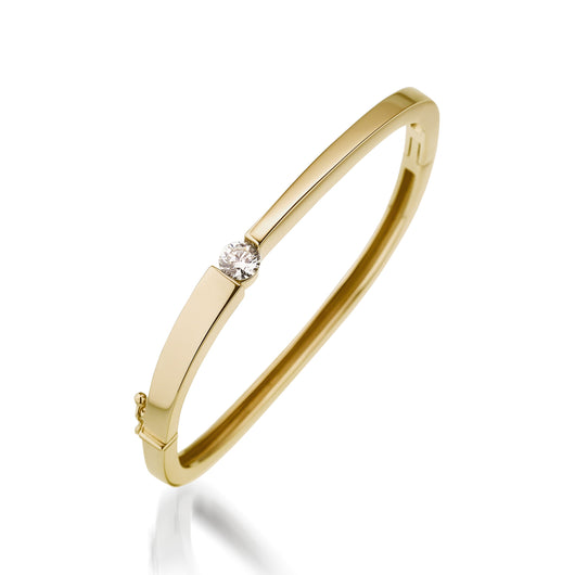 14 karat Yellow Gold Quarter Carat Diamond Bracelet