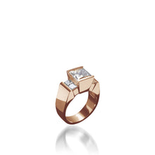 Load image into Gallery viewer, 18 karat Rose Gold Ventana Quad Diamond Engagement Ring