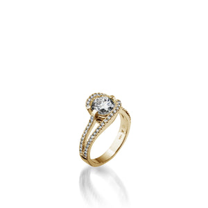 Yellow Gold Bellissima Pave Diamond Engagement Ring