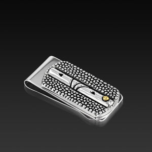 Men's Sterling silver Matrix Money Clip