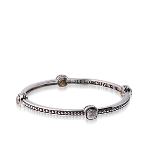 Women's Sterling Silver Chorus Diamond Bangle Bracelet