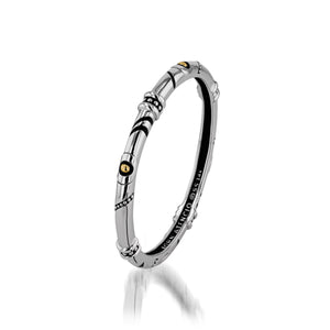 Women's Sterling Silver and 14-karat yellow gold Solar Bangle Bracelet