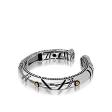 Load image into Gallery viewer, Women's Sterling Silver and 14-karat yellow gold Solar Cuff Bracelet