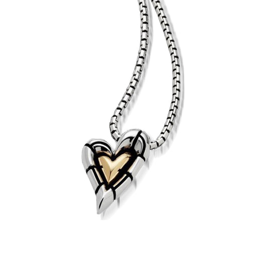 Women's Sterling silver and 14 karat yellow gold Capture Heart Pendant