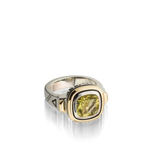 Load image into Gallery viewer, Women's Sterling Silver and 14 karat Yellow Gold Chorus Lemon Quartz Ring
