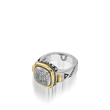 Load image into Gallery viewer, Women's Sterling Silver and 14 karat Yellow Gold Chorus Diamond Ring