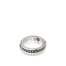 Load image into Gallery viewer, Women's Sterling Silver and 14 karat Yellow Gold Chorus Stack Ring