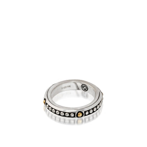 Women's Sterling Silver and 14 karat Yellow Gold Chorus Stack Ring