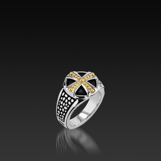 Sterling silver Matrix Men's Ring