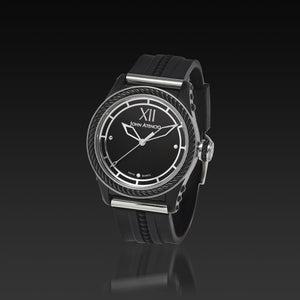 Men's Black Iconic Plated Pantheon I Watch with High Performance Elastomer Band