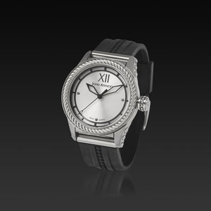 Men's Silver Iconic Plated Pantheon III Watch with High Performance Elastomer Band