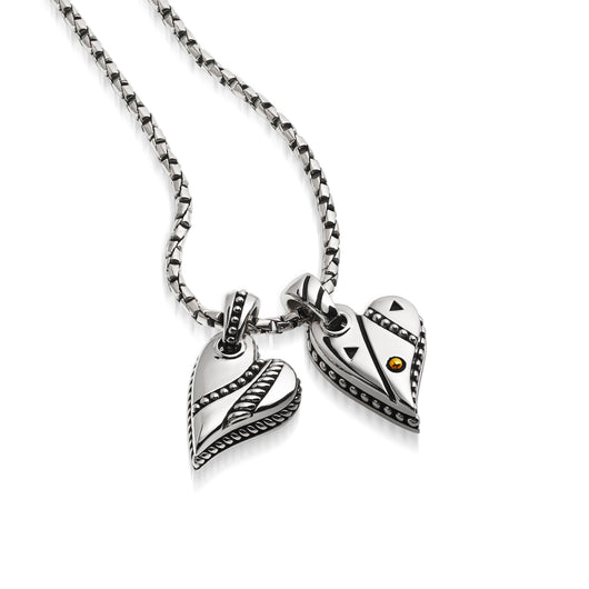 Solar & Apollo Double-Heart Pendant Necklace