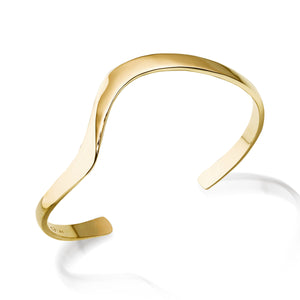 Women's Hand-forged in 14 karat Yellow Gold Dallas Cuff Bracelet