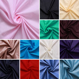 "Plain Polyester Taffeta Lining Fabric- 30 Colours, Premium Quality 60"" Wide"