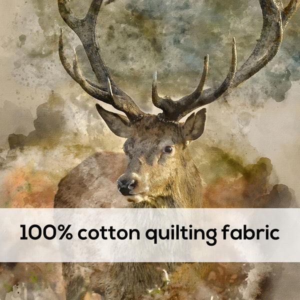 'Deer' 100% Quilting Cotton Cushion Panel- 18