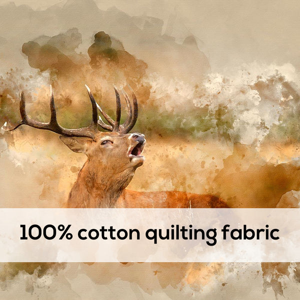 'Elk' 100% Quilting Cotton Cushion Panel- 18