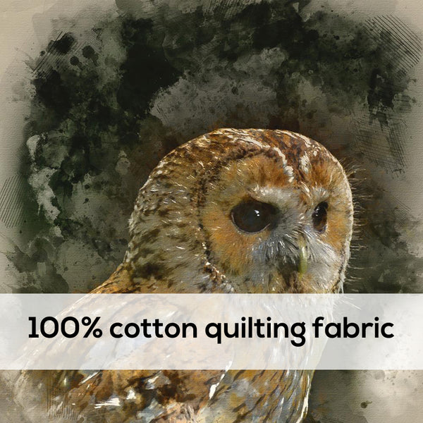 'Owl' 100% Quilting Cotton Cushion Panel- 18