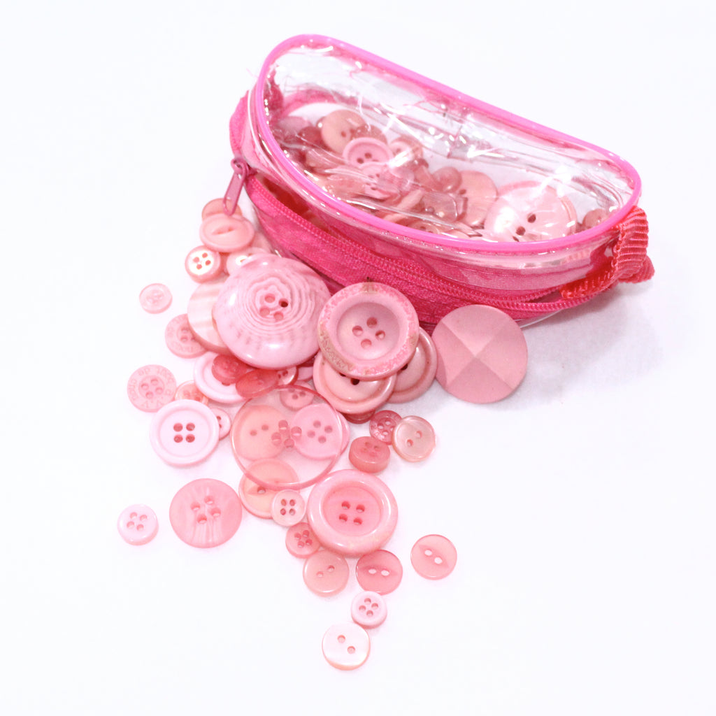 Assorted Button Pouch 75g- Pink