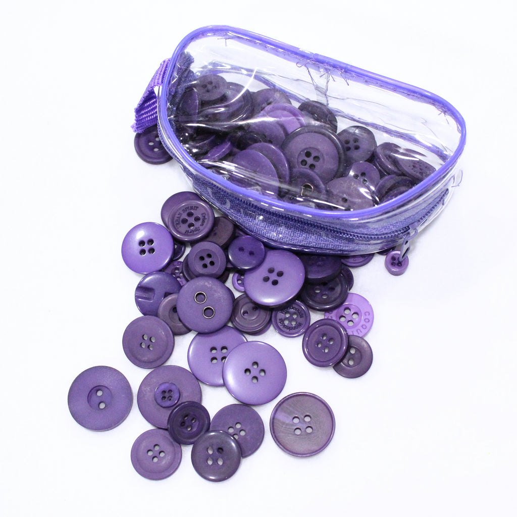 Assorted Button Pouch 75g- Purple