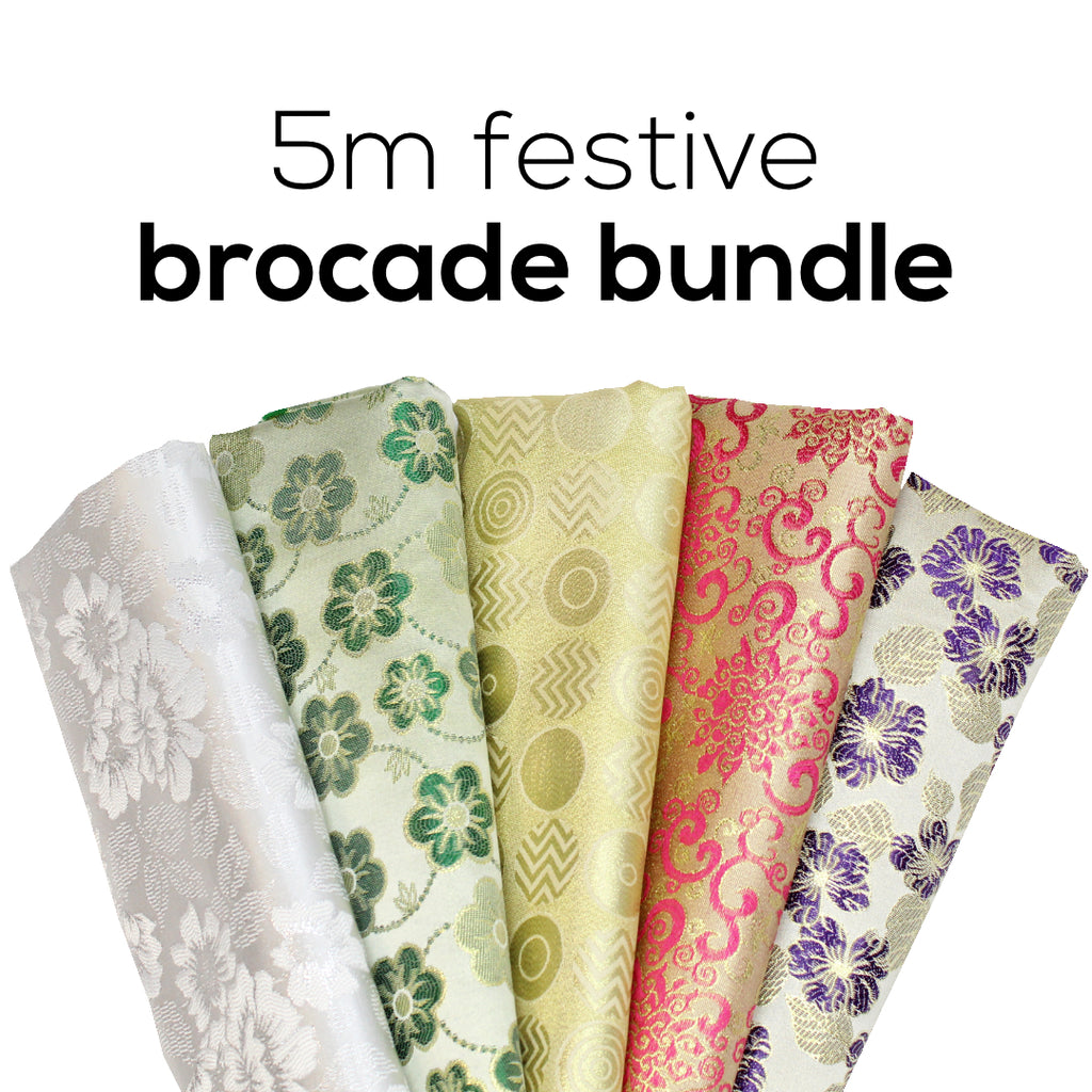 5FOR10 Festive Metallic Brocade Bundle