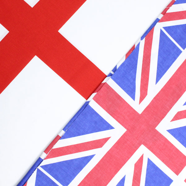6FOR10 Cotton Blend 'Celebration Flags' Proud to be British 60