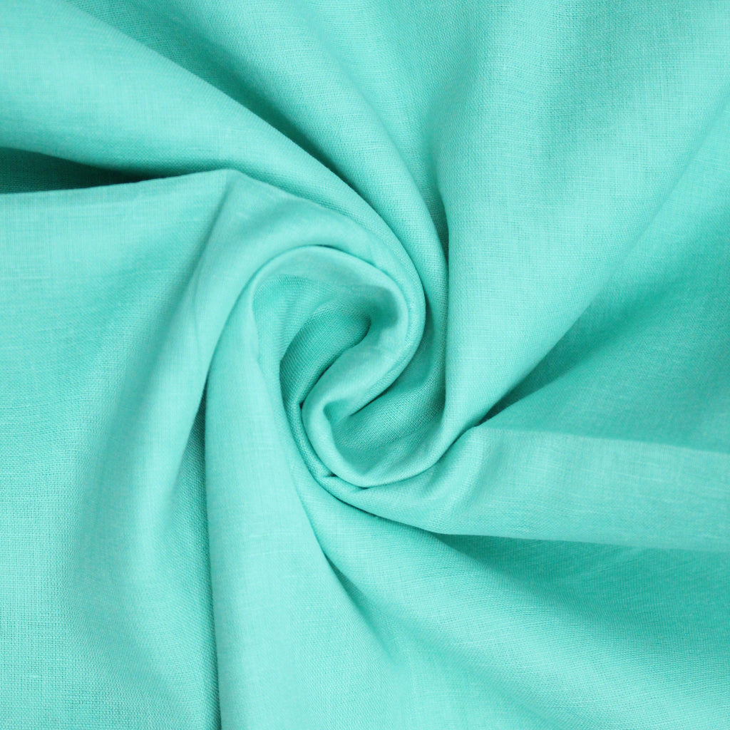 "Soft Cotton Muslin - Light Turquoise 44"" Wide"