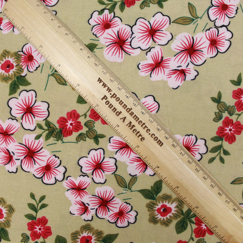 "100% Cotton Lawn Micro Flower Garden Print 60"" Wide"
