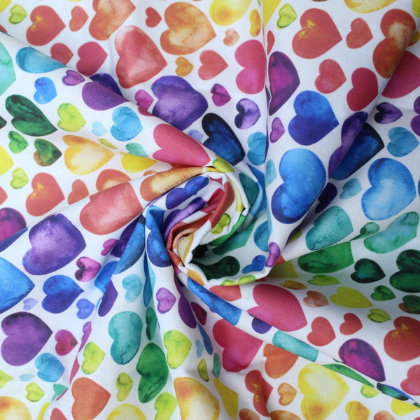 Premium 100% Quilting Cotton 'Hearts' 150cm Wide