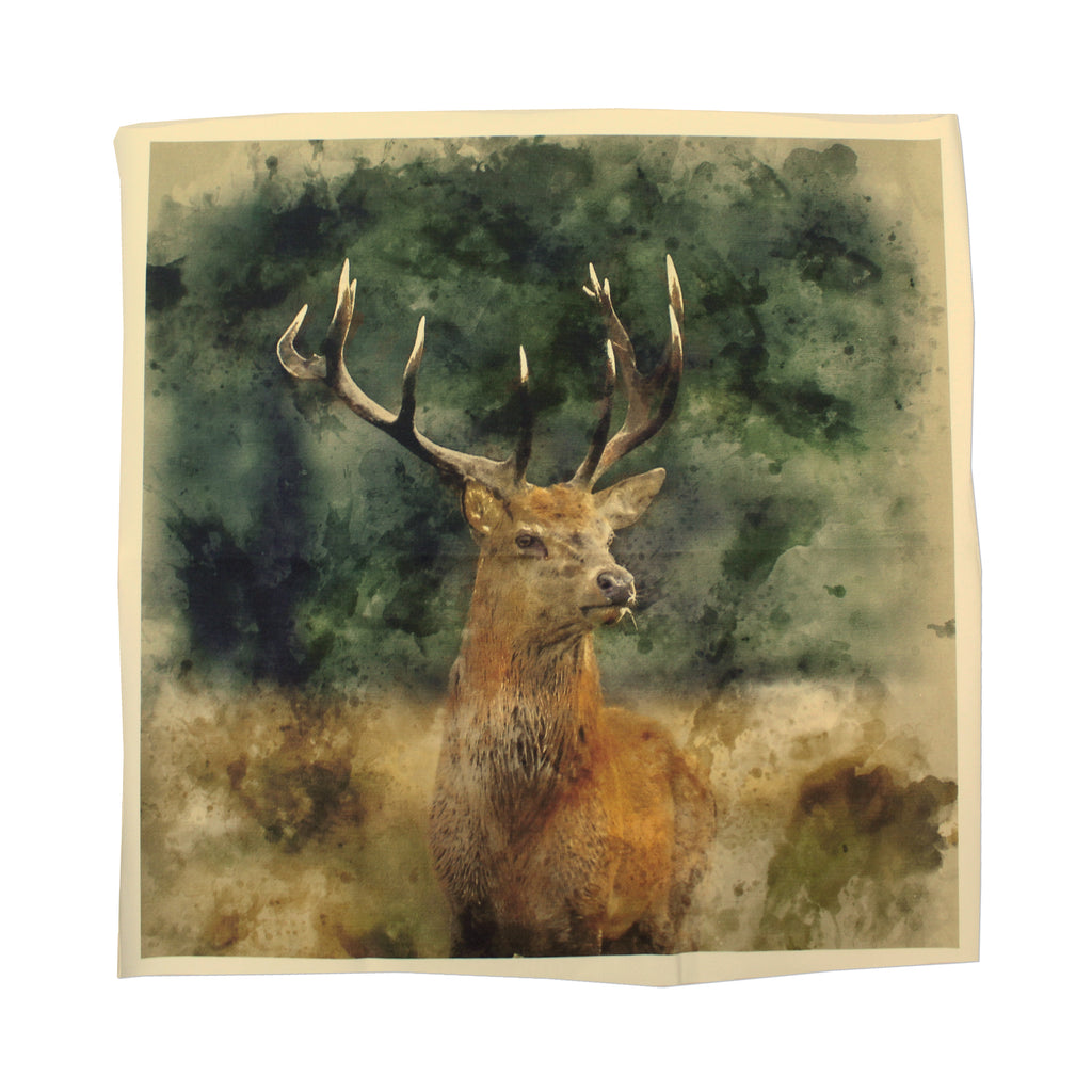 "'Red Deer' 100% Quilting Cotton Cushion Panel- 18"" x 18"""